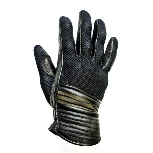 HELSTONS CORPORATE SUMMER MESH/LEATHER GLOVE - BLACK