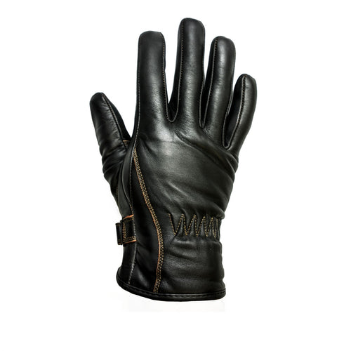 HELSTONS FIRST SUMMER LEATHER GLOVES - BROWN