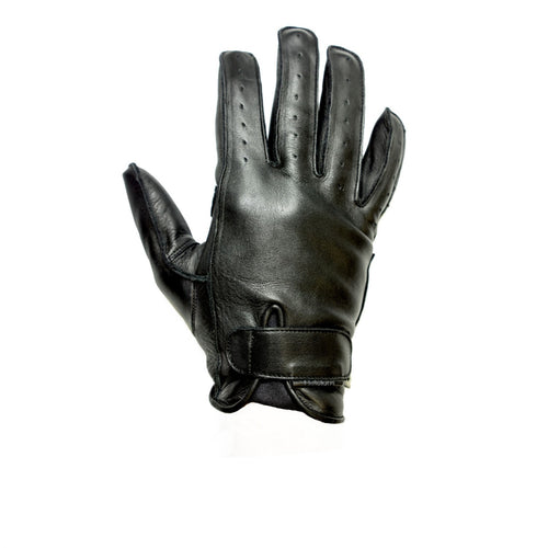 HELSTONS HIRO SUMMER LEATHER GLOVES - BLACK