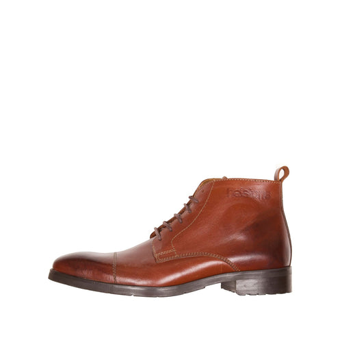 HELSTONS HERITAGE LEATHER BOOTS - BROWN