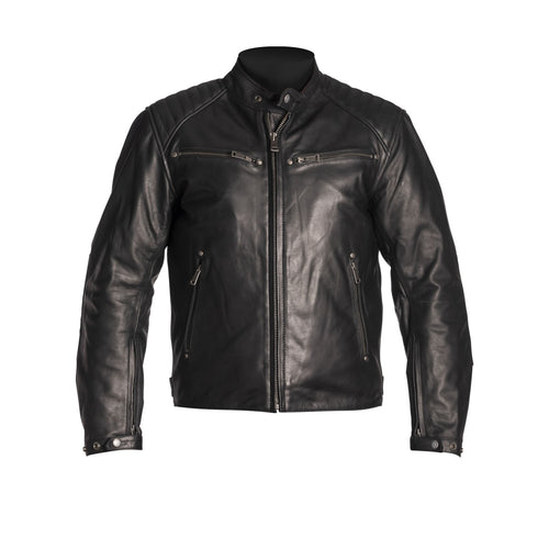 HELSTONS ROCKET LEATHER JACKET - BUFFALO BLACK