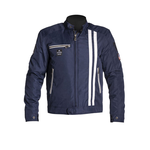 HELSTONS COBRA TEXTILE JACKET - BLUE/WHITE