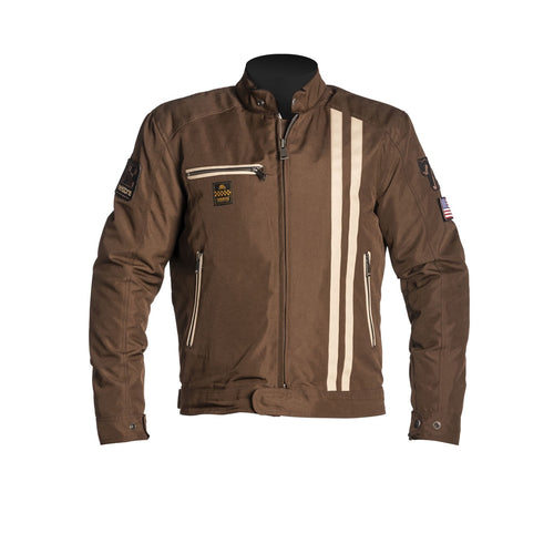 HELSTONS COBRA TEXTILE JACKET - BROWN/BEIGE