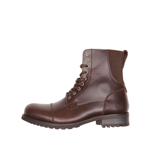 HELSTONS STEVE LEATHER BOOTS - ANILINE BROWN