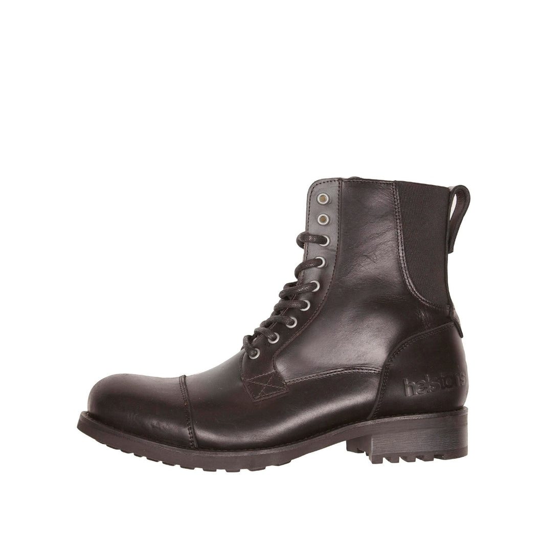 HELSTONS STEVE LEATHER BOOTS - ANILINE BLACK