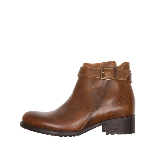 HELSTONS LISA WOMENS LEATHER BOOTS - BROWN