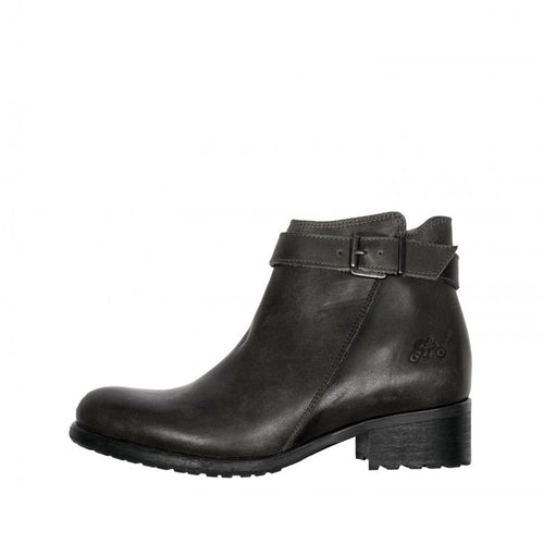 HELSTONS LISA WOMENS LEATHER BOOTS - BLACK