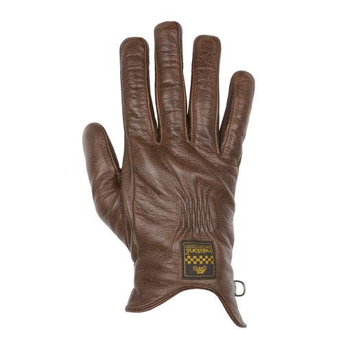 HELSTONS CONDOR SUMMER LEATHER GLOVE - CAMEL/BLACK