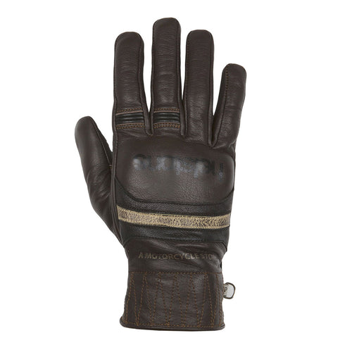HELSTONS MORA SUMMER LEATHER GLOVE - BROWN/BLACK/BEIGE