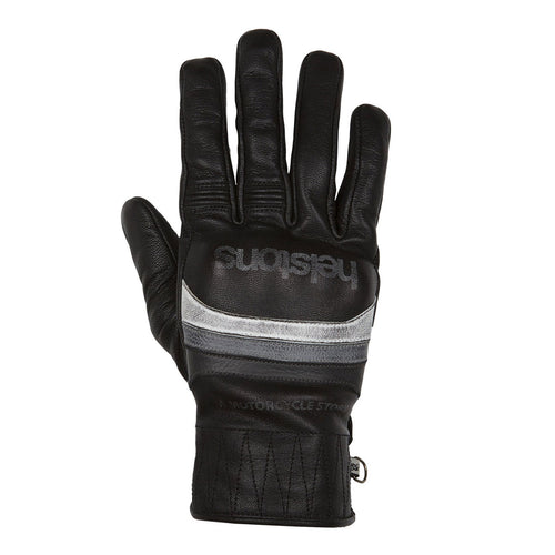 HELSTONS MORA SUMMER LEATHER GLOVE - BLACK/WHITE/GREY