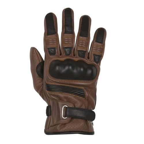 HELSTONS STRADA LEATHER GLOVE - CAMEL/BLACK