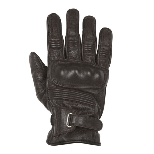 HELSTONS STRADA LEATHER GLOVE - BROWN