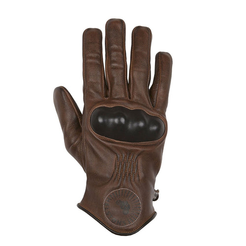 HELSTONS SUN SUMMER LEATHER GLOVE - CAMEL/BLACK