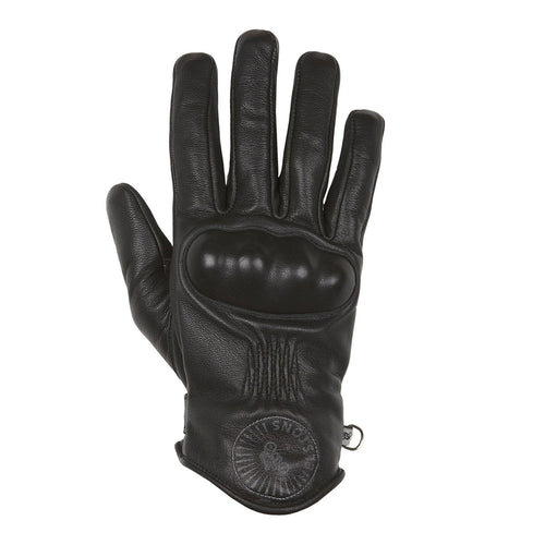 HELSTONS SUN SUMMER LEATHER GLOVE - BLACK
