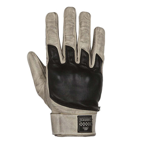 HELSTONS WOLF SUMMER LEATHER GLOVE - BEIGE/BLACK