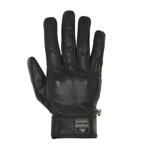 HELSTONS WOLF SUMMER LEATHER GLOVE - BLACK