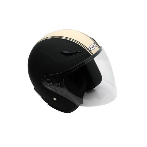 RXT METRO RETRO BLACK/CREAM HELMET