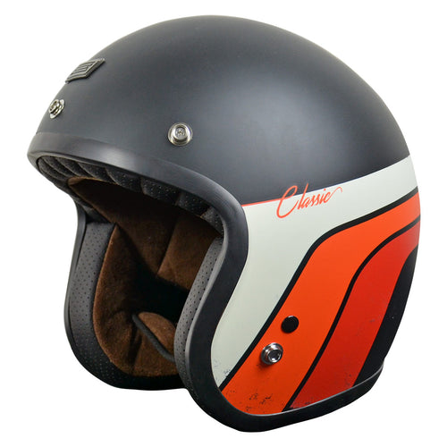 ORIGINE PRIMO CLASSIC HELMET - MATTE BLACK/STRIPES