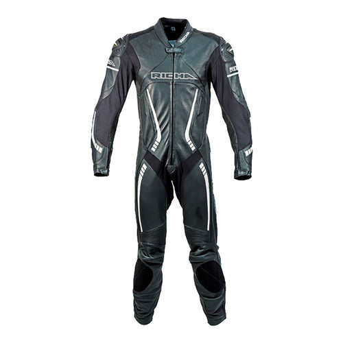 RICHA BARACUDA LEATHER SUIT - BLACK