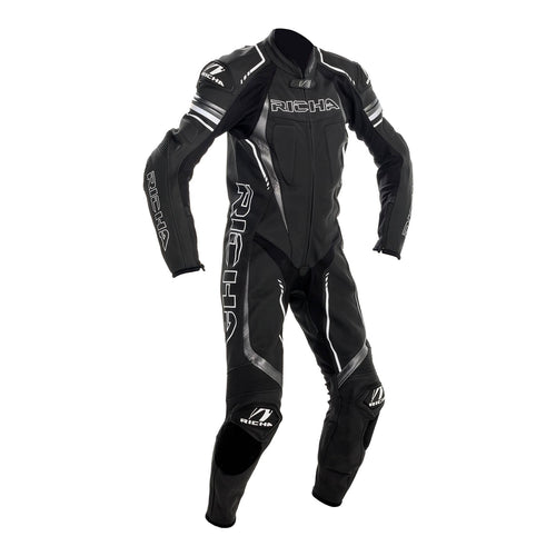 RICHA FRANCORCHAMPS LEATHER SUIT - BLACK/GREY