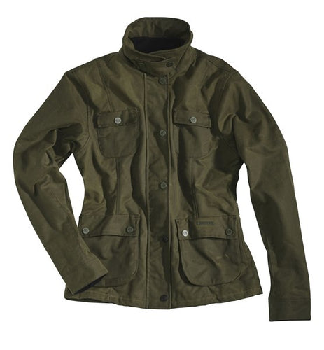 ROKKER WAX COTTON JACKET WOMEN - GREEN