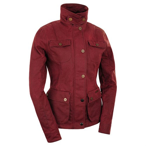 ROKKER WAX COTTON JACKET WOMEN - RED
