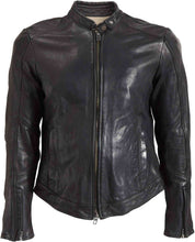ROKKER STREET LEATHER JACKET BLACK - SMALL ONLY