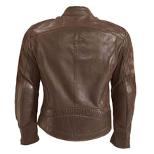 ROKKER CAFE RACER LEATHER JACKET - BROWN