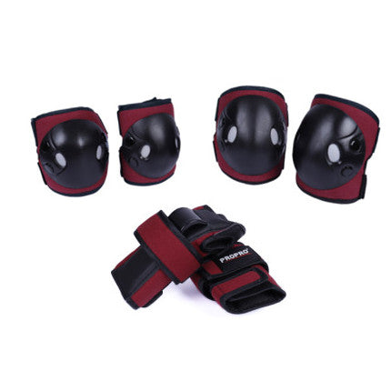 ProPro - Pads & Wrist Guard Junior Set (Red)