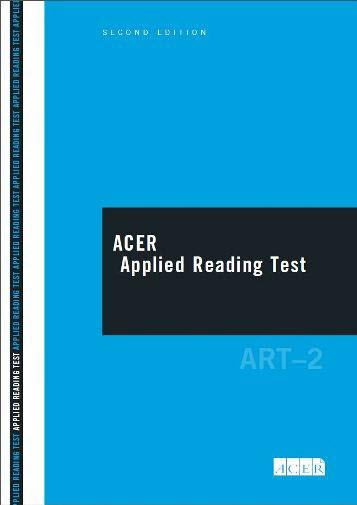 ACER Applied Reading Test (Technical/Trades) - Second Edition