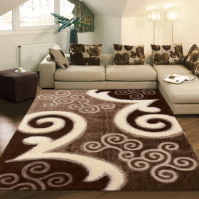 Shaggy Luxury Brown Lounge Rugs