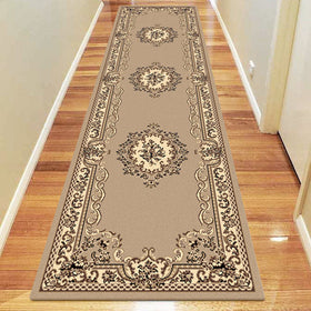 Ruby Brown Runner Rugs