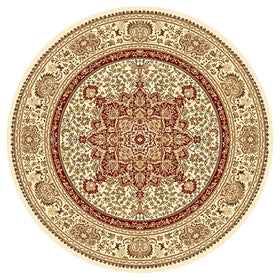 Anima Round Cream Rugs
