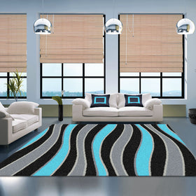 Vivid Blue Lounge Rugs