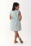 Floral Ruffle-Front Dress - Light Blue Printed (GDS 315)