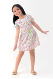 Printed Pleat-Front Day Dress (GDS 283)