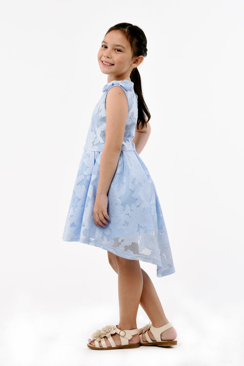 Dainty Bow Dress - Blue (GDS 369)