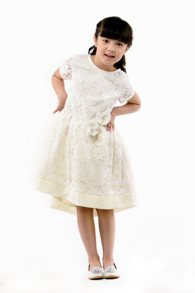 Cotton Lace Dress - Offwhite (GDS 361)