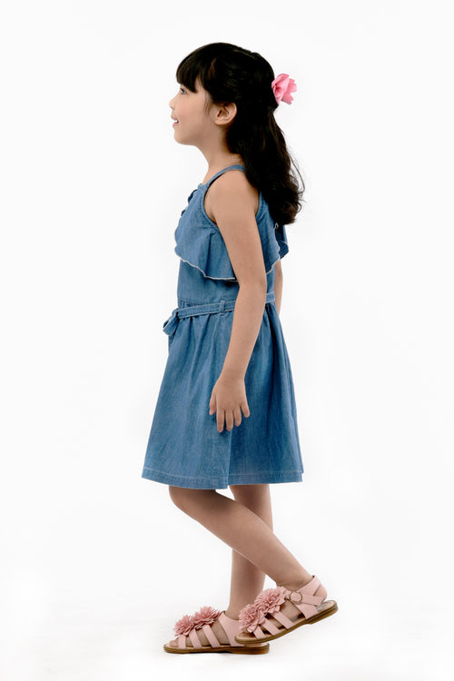 Overlap Dress - Light Denim (GDS 378)