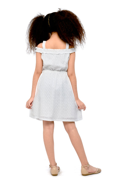 Off-Shoulder Button-Down Dress (GDS 431)
