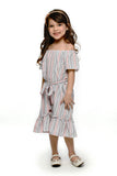 Striped Off-Shoulder Dress (GDS 436)