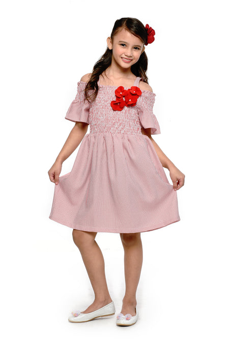 Pleated Top and Skirt Set (GSET 066)