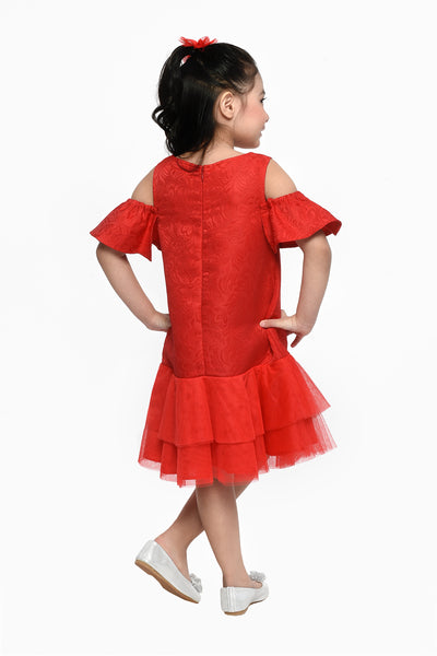 Frill Dress - Red (GDS 465)