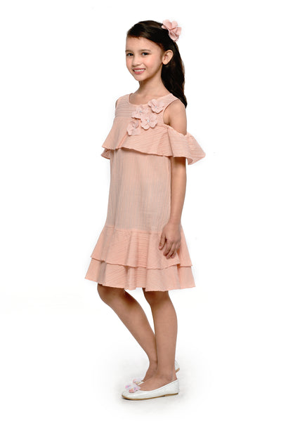 Frill Dress - Peach (GDS 478)