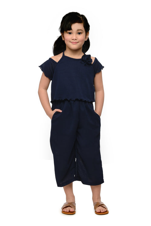 Halter Jumpsuit (GJP 044) - Navy Blue