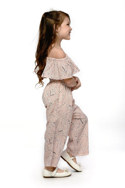 Off-Shoulder Floral Jumpsuit (GJP 056)