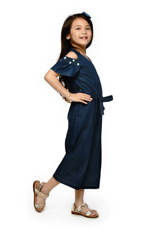 Cold-Shoulder Denim Jumpsuit (GJP 061)