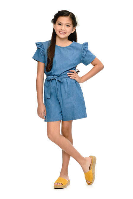 Ruffled Cold Shoulder Romper Shorts (GJP 028)
