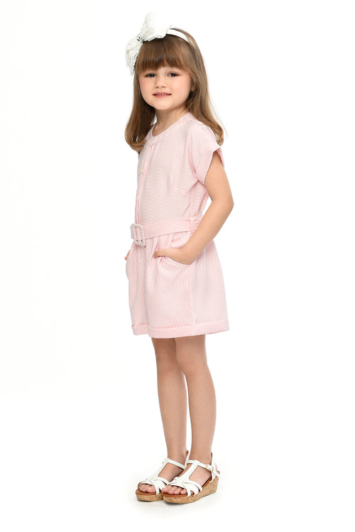 Button-down Romper (GJP-073) Pink