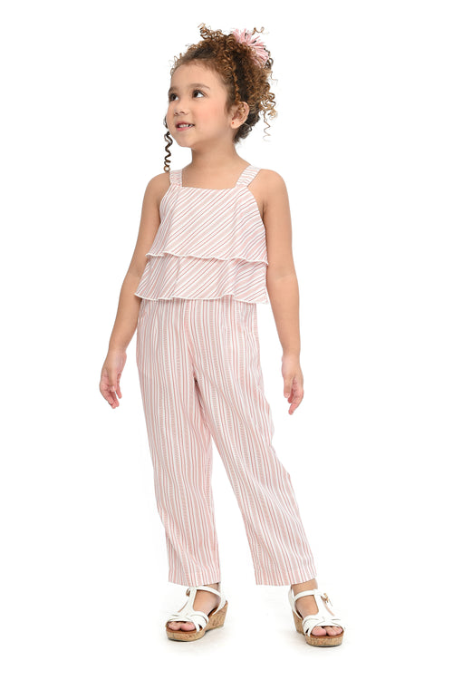 Striped Layered Jumpsuit (GJP 076)
